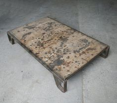 Hey, I found this really awesome Etsy listing at http://www.etsy.com/listing/89077474/vintage-industrial-coffee-table-pallet