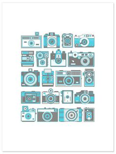 Retro Cameras by Fifty Five Hi's