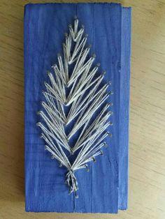 خشبة ومسمار وخيط... wood art