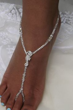 Rhinestone Seahorse Barefoot Sandals Barefoot by SubtleExpressions