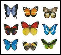 Everything Cross Stitch - Butterfly Sampler