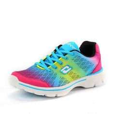 68d30707615c 2016 New Gradually Changing Color Women Running Shoes Spring Autumn  Breathable Shoes Outdoor Sport Sneaker For