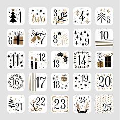 Homemade Advent Calendars, Diy Advent Calendar, Kids Calendar, Christmas Calendar, Printable Christmas Cards, Diy Calendario, Holiday Countdown, Printable Calendar Template, How To Draw Hands