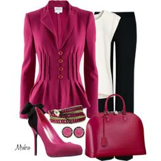 Louis in deep pink ... by mrsbro on Polyvore