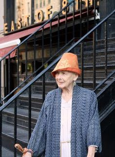 This fabulous women is 99 years old and has lived in Manhattan her whole life. Fania is a Fabric designer and has worked with many studios throughout her long career.