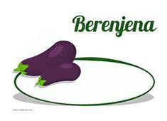 Un cartel para el precio de las berenjenas de tu frutería