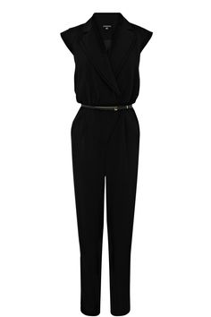 Tailoring | Black Belted Jumpsuit | Warehouse