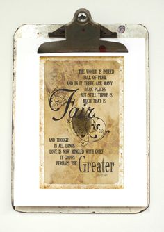 LOTR Quote Print Lord of the Rings Art by pjeanartmachine on Etsy, $15.50