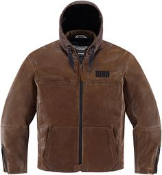 Icon 1000 The Hood Jacket - Brown | Products | Ride Icon