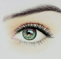 colored pencil drawing of an eye