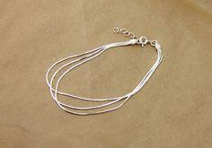 Simple & Elegant Silver Bracelet Sterling Bracelet by HXStudio