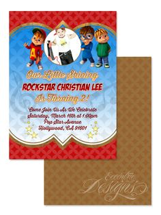 Alvin and the Chipmunks - Birthday Party Invitation