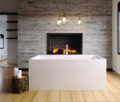 Rectangular one piece acrylic free standing bath tub by Slik Portfolio Latest Bathroom, Bathroom Trends, Modern Bathtub, Modern, Interior Design Trends, Urban Ideas, Free Standing Bath Tub, Bathroom Design, Bathroom Decor