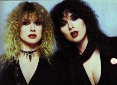 1985 - Ann and Nancy Wilson of Heart. Two of my favorite Rock n Roll ladies Joy Division, Ramones, Rock N Roll, Heavy Metal, Nancy Wilson Heart, Wilson Sisters, Sisters By Heart, Women Of Rock, 80s Rock