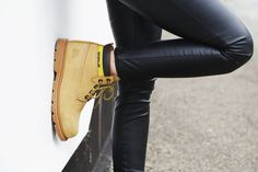 Leather Pants x Caterpillar Boots