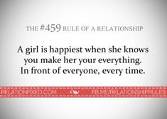 A girl is happiest when she knows you make her your everything. In front of everyone, every time. Marriage Relationship, Relationships Love, Love And Marriage, Love You, My Love, Quotable Quotes, Qoutes, True Words, Knowing You