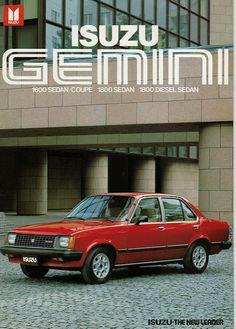 Isuzu Gemini export brochure   I decided I needed a set of v…   Flickr