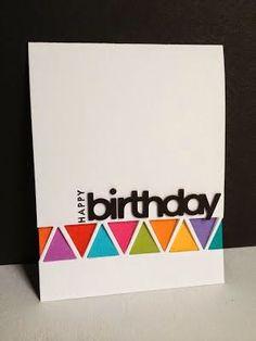 Triangle CASE birthday card