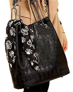 Womens Skull Print Pu Hobo Tote Shoulder Bag Handbag Light Black Aonal http://www.amazon.com/dp/B00H7Q5KDW/ref=cm_sw_r_pi_dp_A7qtwb1354JSB