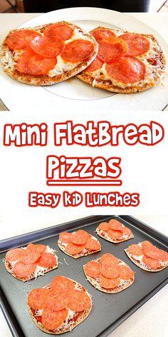 Mini Flatbread Pizzas | Easy Kid Lunches | Woo! Jr. Kids Activities