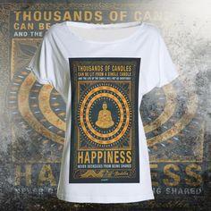 T-shirt happiness buddah di UnconventionalTees su Etsy