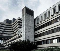 Military Medical Academy complex, Banjica, Belgrade, Serbia, designed in 1973, built in 1981