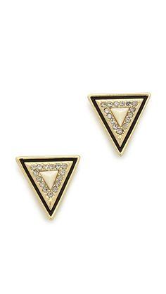 triangle stud earrings / house of harlow