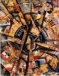 MyArtMakers - Collage - Carlo Carrà – Manifestation Interventionniste, 1914