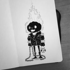 Drawing Ideas & Inspiration for Inktober by Behemot, check out more beautiful art by artists who work in inks by … Sketchbook Inspiration, Art Sketchbook, Desenhos Halloween, Character Art, Character Design, Creepy Art, Flash Art, Halloween Art, Easy Drawings
