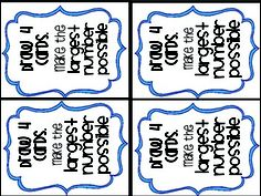 Place Value {Card Game}