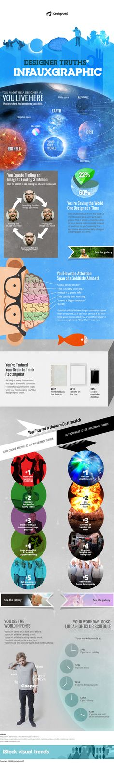 You're Saving the World One Design at a Time - Designer Truths Infauxgraphic! by iStockphoto Webdesign Inspiration, Graphic Design Inspiration, Web Design, Design Trends, Information Graphics, Data Visualization, Design Reference, Funny Design, Typography Design