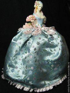 Купить Half doll, антикварная фарфоровая кукла - половинка, pin cushion doll - антиквариат винтаж