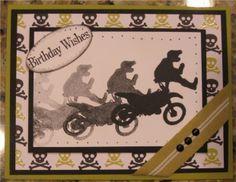 Dirt Bike Motorcycle Masculine Birthday Handmade Card My