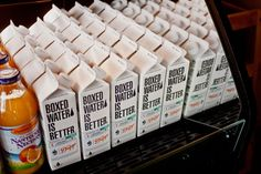 A Tendência de utilizar embalagem em papel ao invés de plástico para água.  Designed By: Salih Kucukaga