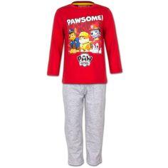 Paw Patrol Kinder Pyjama - Chase, Rubble & Marshall (Rood/Grijs)