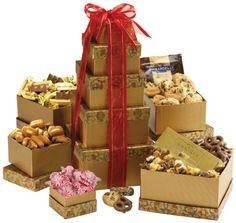 Broadway Basketeers Gourmet Gift, Tower Deluxe - http://mygourmetgifts.com/broadway-basketeers-gourmet-gift-tower-deluxe/