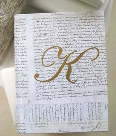 Custom Monogram French Script Blank Journal Lg by FancifulDesign