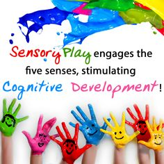 Let's develop with some #sensoryplay! #learn #play #touchandfeel #colours