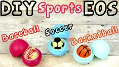 DIY EOS Lip Balms Sports Edition - Turn an EOS Lip Balm into a soccer ball, baseball or basketball! Here is a fun and easy way to make your own DIY lip balm . Eos Lip Balm, Lip Balms, Lip Balm Containers, Cute Diy Projects, Art Projects, Lip Balm Recipes, Diy Crafts How To Make, Diy Galaxy, Diy Phone Case