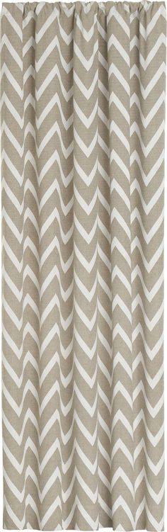 Teramo Curtain Panel  | Crate and Barrel.... I am obsessed with chevron print right now!