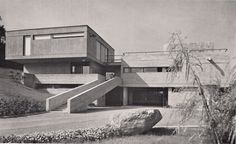 Villa (1957-58) in Cologny, Switzerland, by Georges Brera