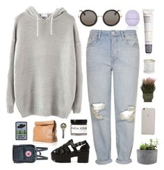 """""""just me, him, and the moon."""" by ruthaudreyk ❤ liked on Polyvore featuring Topshop, The Row, Rough Fusion, Marie Turnor, Nearly Natural, Tom Dixon, Fig+Yarrow, Jane Iredale and Fjällräven"""