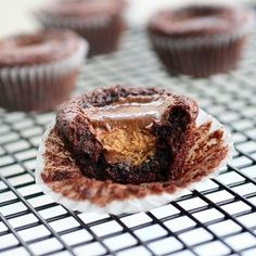 Peanut Butter Brownie Cup Surprises    http://www.the-girl-who-ate-everything.com
