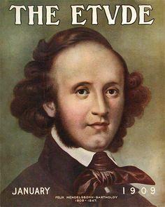 Etude 1909-01 Portrait of Felix Mendelssohn-Bartholdy (1809-1847).