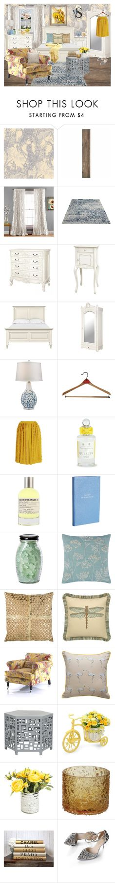 """""""Serena"""" by sailorgirl ❤ liked on Polyvore featuring interior, interiors, interior design, home, home decor, interior decorating, Timorous Beasties, ELK Lighting, Rochas and Lalique"""