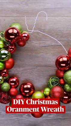 Diy Christmas Decorations Easy, Christmas Ornament Crafts, Diy Christmas Gifts, Simple Christmas, Holiday Crafts, Christmas Holidays, Christmas Kitchen, Christmas Bedroom, Diy Christmas Projects
