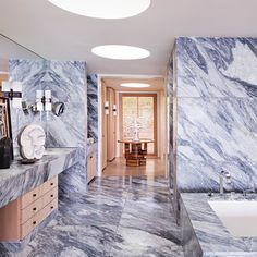 At Home with Kelly Wearstler - The Master Bathroom from #InStyle