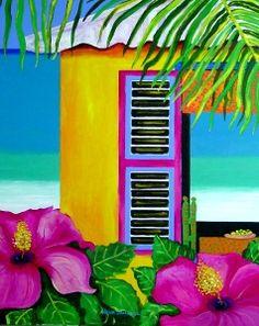 InspirU CooCoo: Curacao flavoured artwork - Nena Sanchez