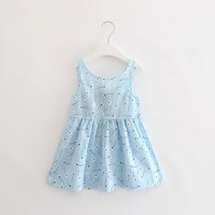 5ad0cbd602a 2017 Cute Print Baby Girls A-Line Lovely Sleeveless Summer Dress