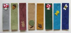 more felt bookmarks